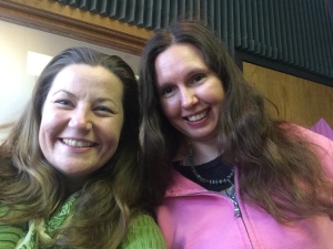 Psychic Cynthia Killion and I on the air in Wichita, Fall 2014.