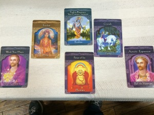 I got this pretty cool tarot card reading at the fair...try guessing who did it!