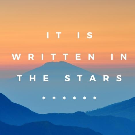 It is written in the stars******